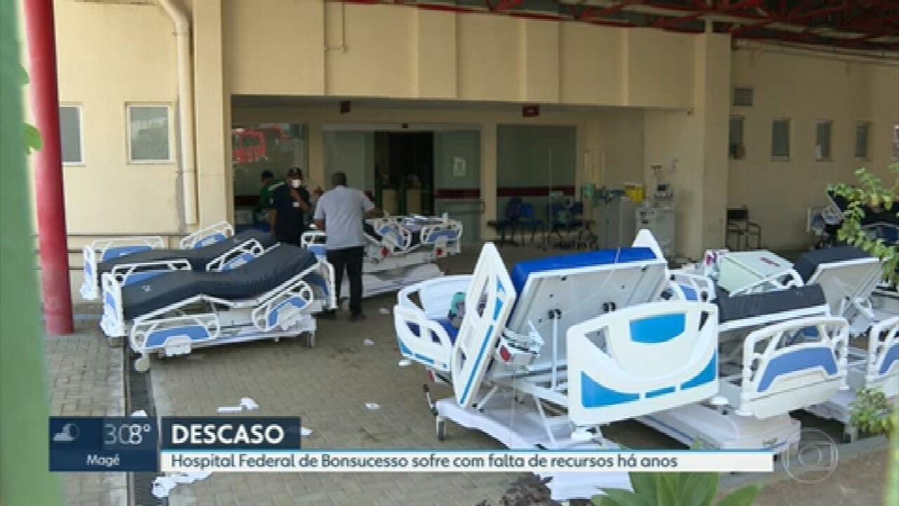 Hospital Federal de Bonsucesso sofre com falta de recursos há anos