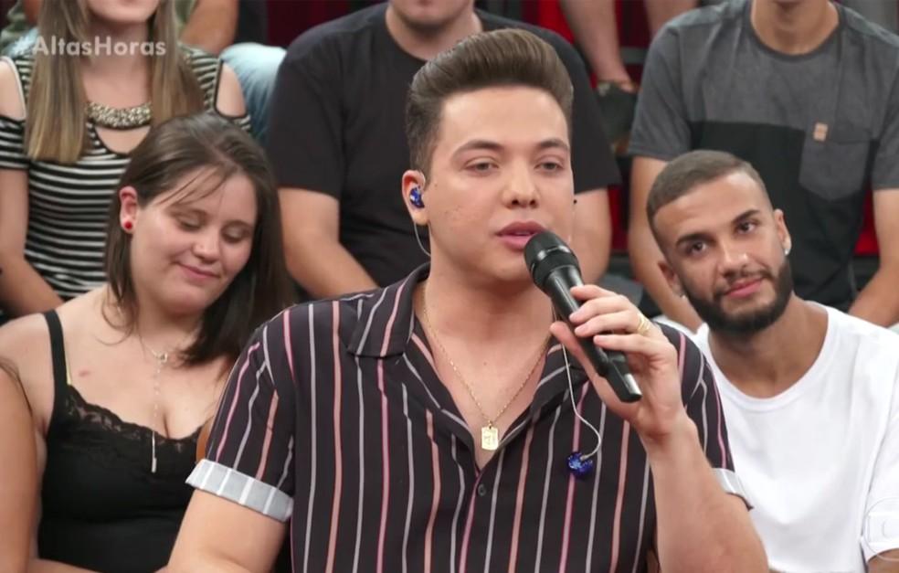 Wesley Safadão agradece o carinho que recebe dos fãs — Foto: Reprodução/TV Globo