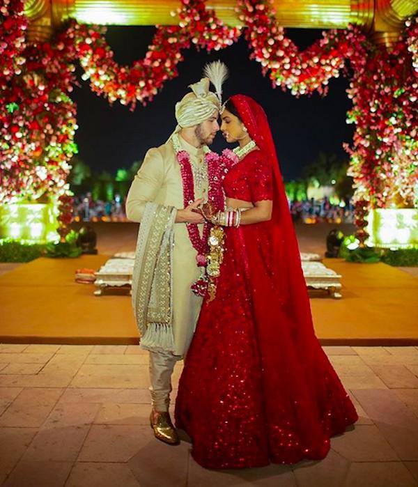 Uma das duas cerimônias de casamento de Priyanka Chopra e Nick Jonas (Foto: Instagram)