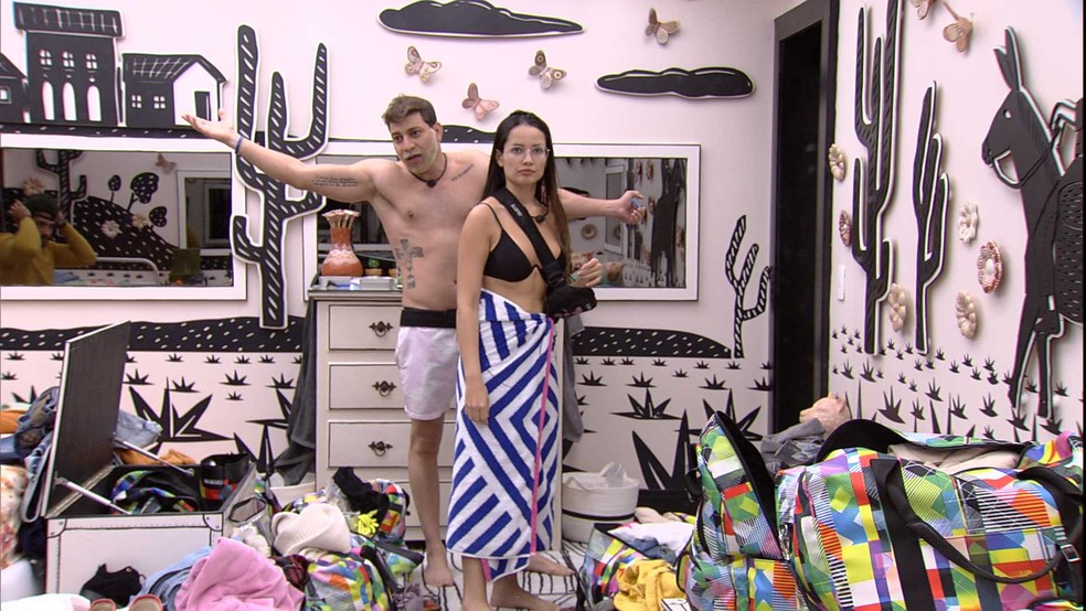 Caio declara para Sarah sobre fazer aliança dentro do BBB21: 'Quando for para proteger' — Foto: Globo