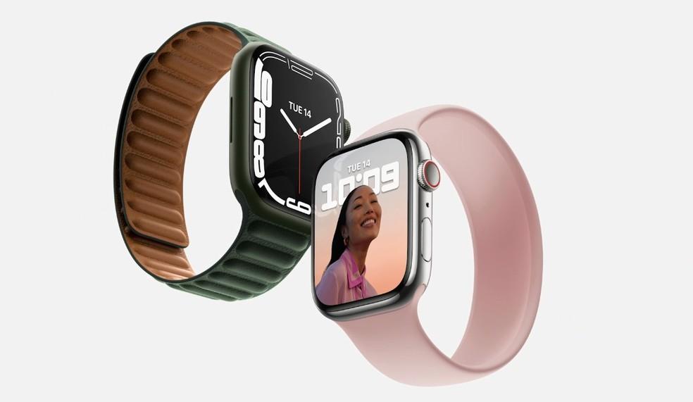 O Apple Watch 7 foi apresentado em setembro de 2021 — Foto: Reprodução/Apple