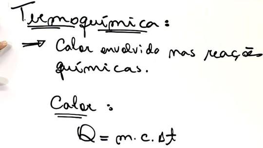 Física: Professor dá dicas sobre termoquímica