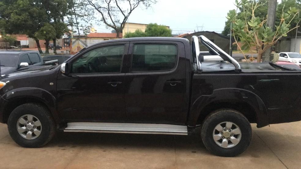 Veículo foi apreendido por policiais na casa do suspeito em Timon (MA) — Foto: Divulgação/Polícia Civil