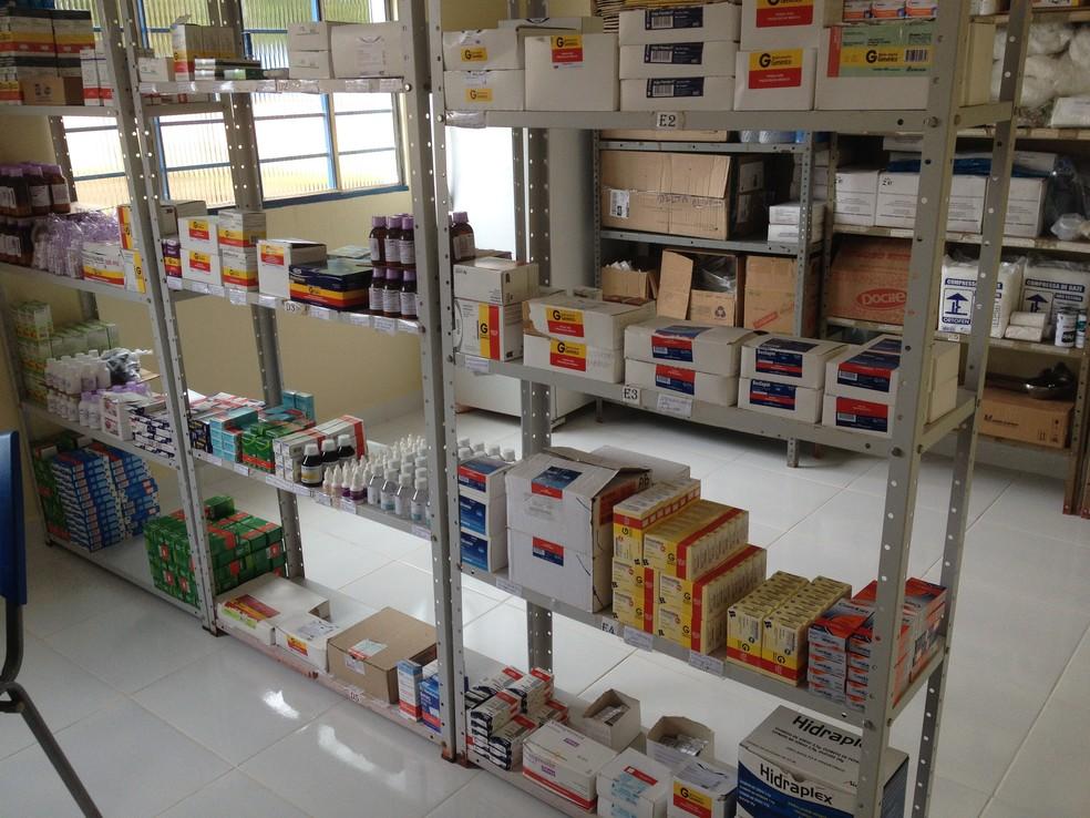 Farmácia faz parte da nova estrutura do Posto de Saúde Delta Oliveira Martinez (Foto: Júnior Freitas/G1)