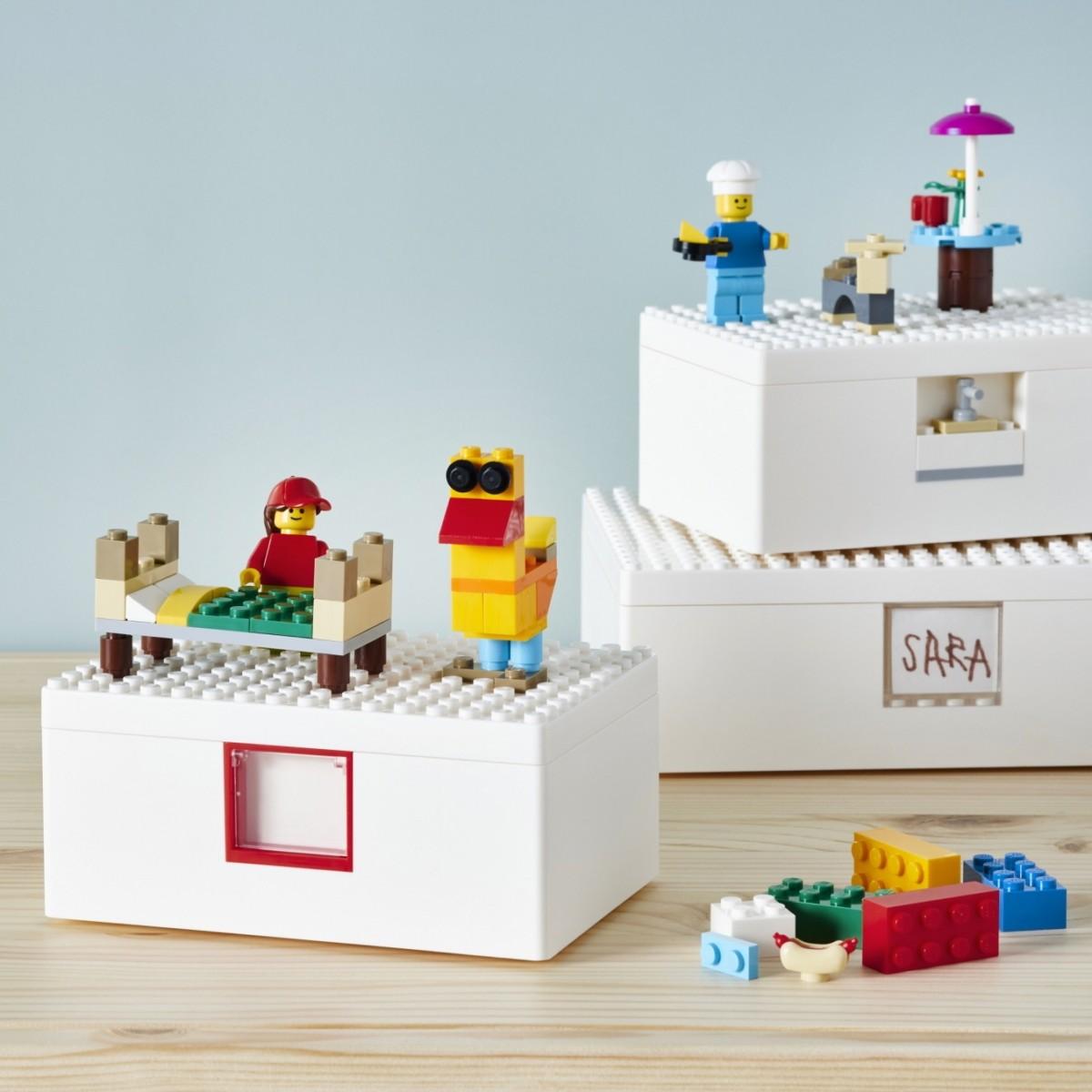LEGO e Ikea criam coleção de caixas de armazenamento que servem para brincar (Foto: Ikea)