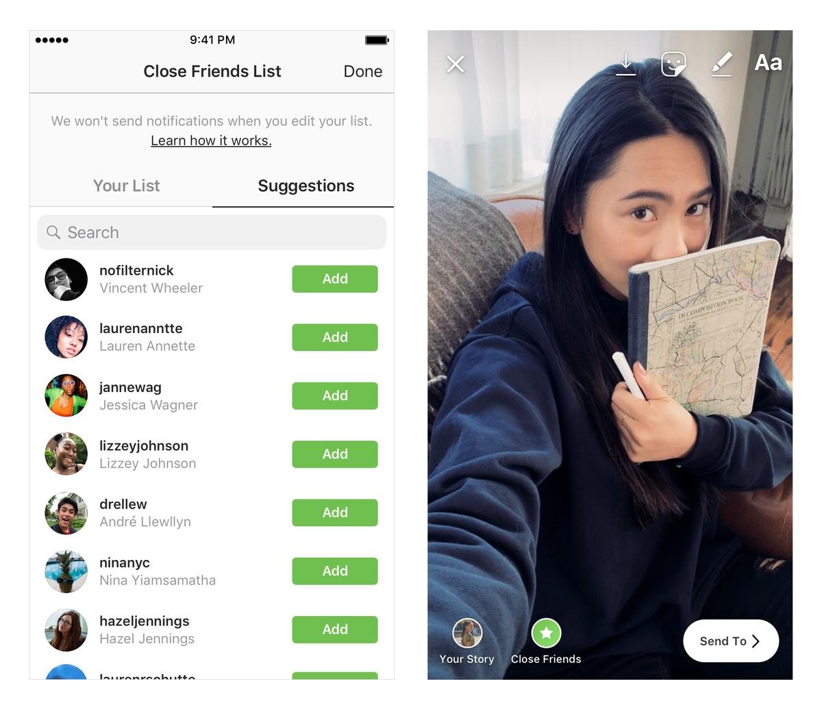 Tem Na Web - Instagram: nova função permite compartilhar Stories em grupos privados