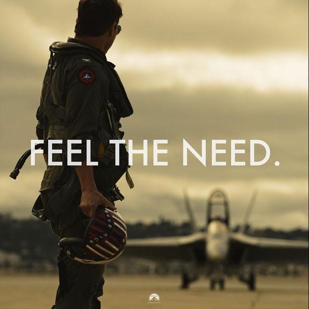 Tom Cruise na primeira foto de Top Gun: Maverick (Foto: Reprodução Instagram)