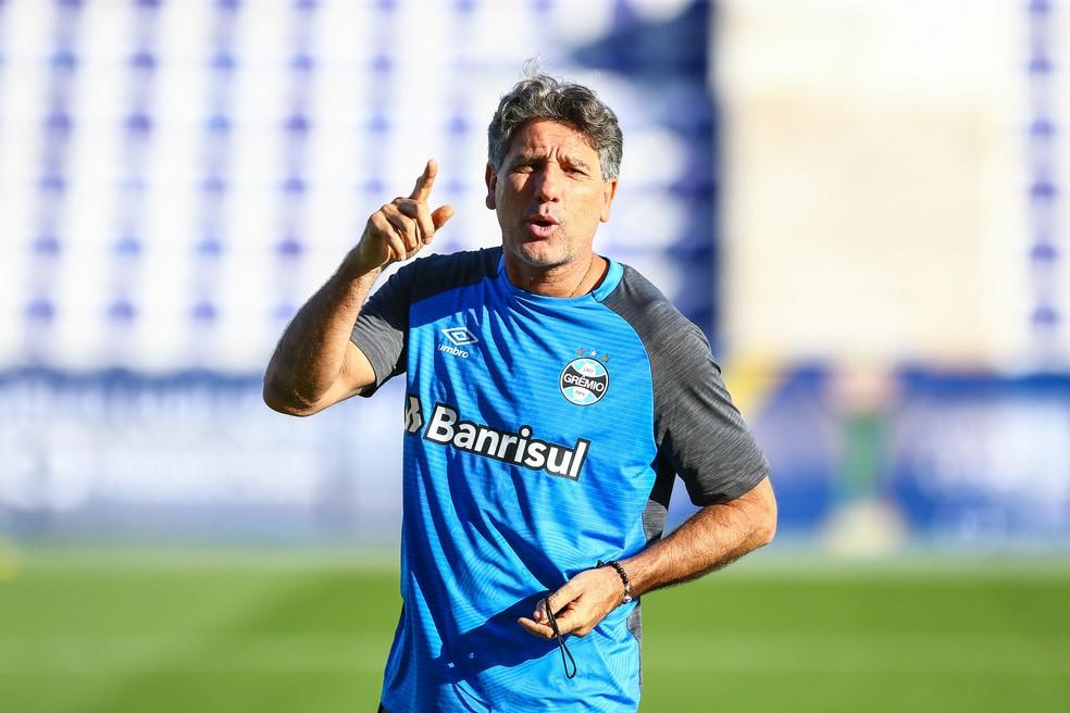 Renato garante que foco do Grêmio está na semifinal (Foto: Lucas Uebel/Divulgação Grêmio)