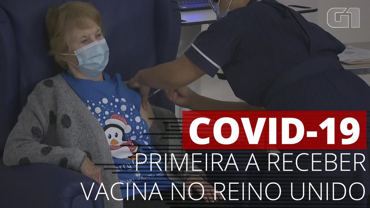 VÍDEO: Idosa britânica é a primeira a receber a vacina contra o novo coronavírus no Reino Unido