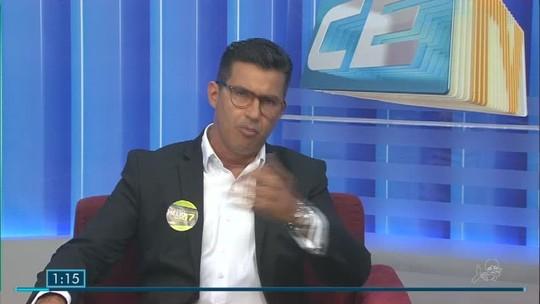 Hélio Góis, candidato ao governo do CE, é entrevistado no CETV 1ª Edição