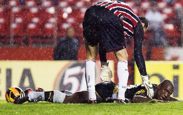 Rogerio Ceni e Seedorf jogo São Paulo e Botafogo (Foto: Léo Pinheiro / Futura Press)