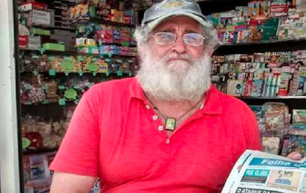 Cabo Frio, RJ, se despede de 'Barbudo', o jornaleiro mais tradicional da Praça Porto Rocha