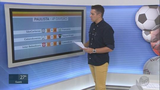 Confira os resultados dos jogos pela 4ª divisão do Paulista