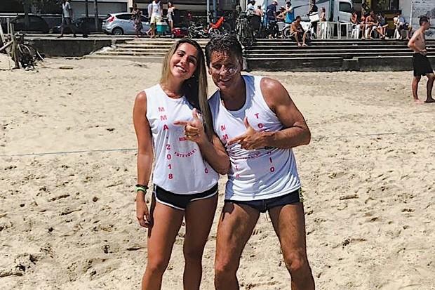 Carol Portaluppi e Renato Gaúcho (Foto: Reprodução)