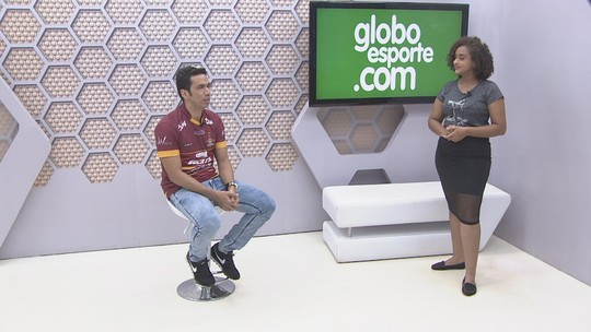 """Bate-papo GE: """"Meu trabalho é fazer gols"""", diz atacante do Genus, Souza, para a Copa Verde"""