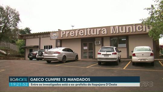Gaeco investiga suspeita de desvio de dinheiro público em Itapejara d'Oeste