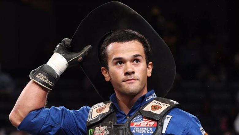 Kaique Pacheco, terceiro colocado na etapa de Greensboro na penúltima etapa do Mundial da PBR,  (Foto: Divulgação/PBR)