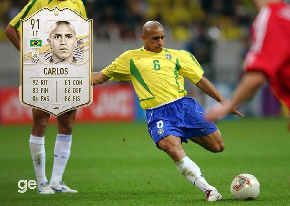 Roberto Carlos e a potente canhota estão presentes no FIFA 21 — Foto: Reprodução