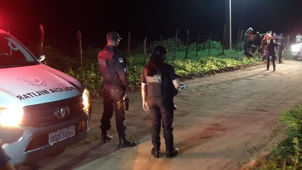 DHPP investiga o crime — Foto: Sérgio Henrique Santos/Inter TV Cabugi
