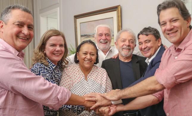 Lula e a cúpula do partido