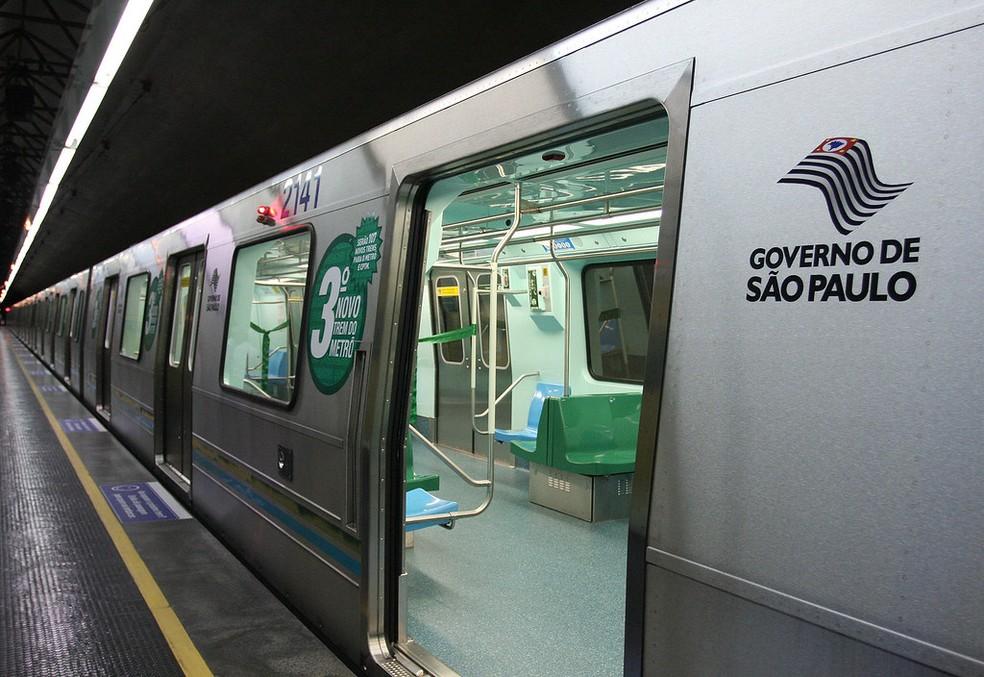 Trem da Linha 2-Verde do Metrô  — Foto: Cris Castello Branco/Governo de SP