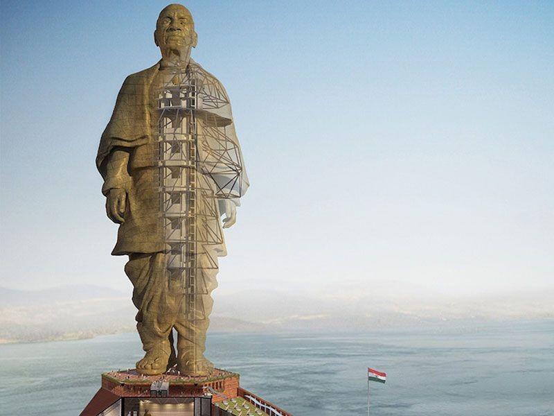 Projeto da estátua, que terá 182 metros de altura (Foto: Divulgação)