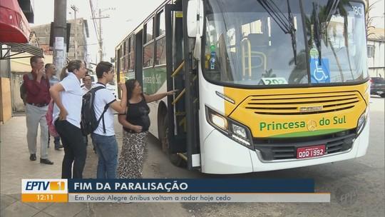 Após acordo com funcionários, ônibus voltam a funcionar em Pouso Alegre, MG