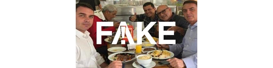 É #FAKE que foto mostre sargento preso na Espanha à mesa com Bolsonaro