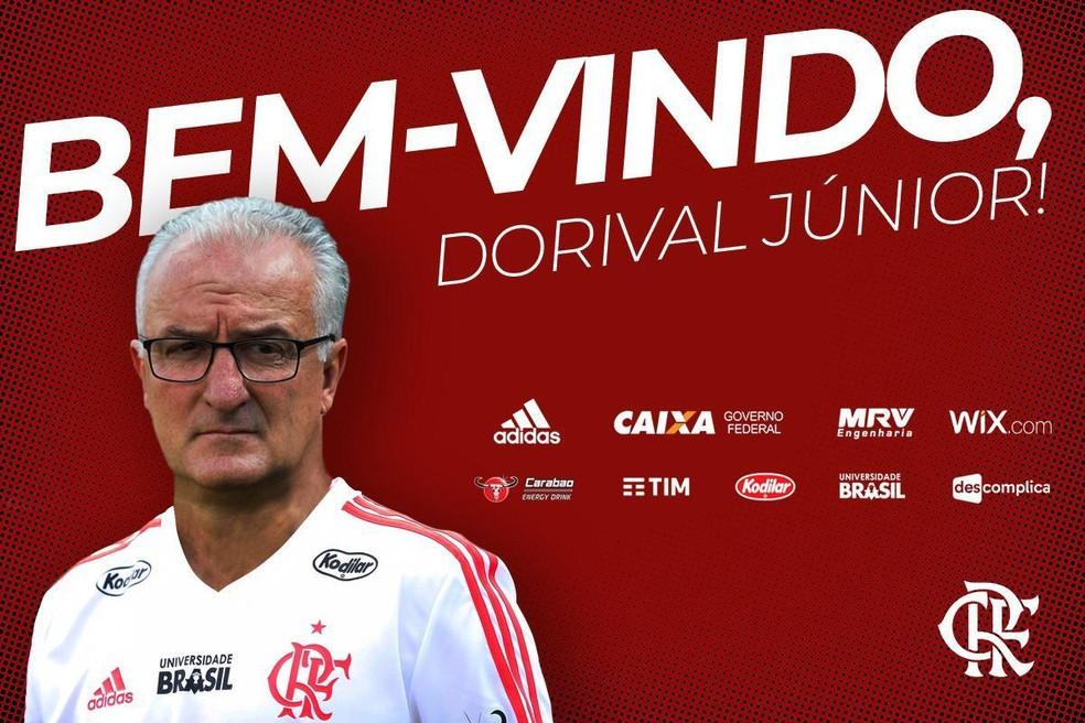 Dorival Junior é o novo técnico do Flamengo — Foto: Divulgação/Flamengo
