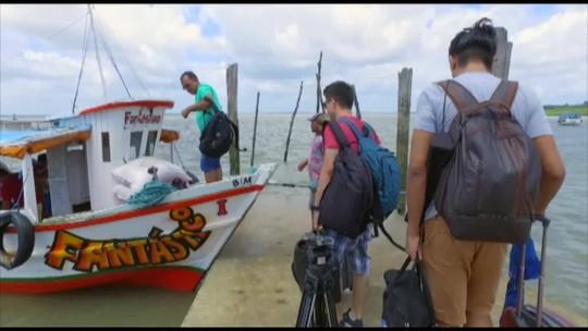 É do Pará visita a vila de Algodoal, na ilha de Maiandeua, em Maracanã