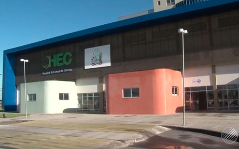 Hospital Estadual da Criança em Feira de Santana, Bahia (Foto: Reprodução/ TV Subaé)