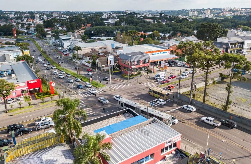 Trincheira ficará no cruzamento da Rua Mário Tourinho com a Avenida Nossa Senhora Aparecida — Foto:  Daniel Castellano/Prefeitura de Curitiba