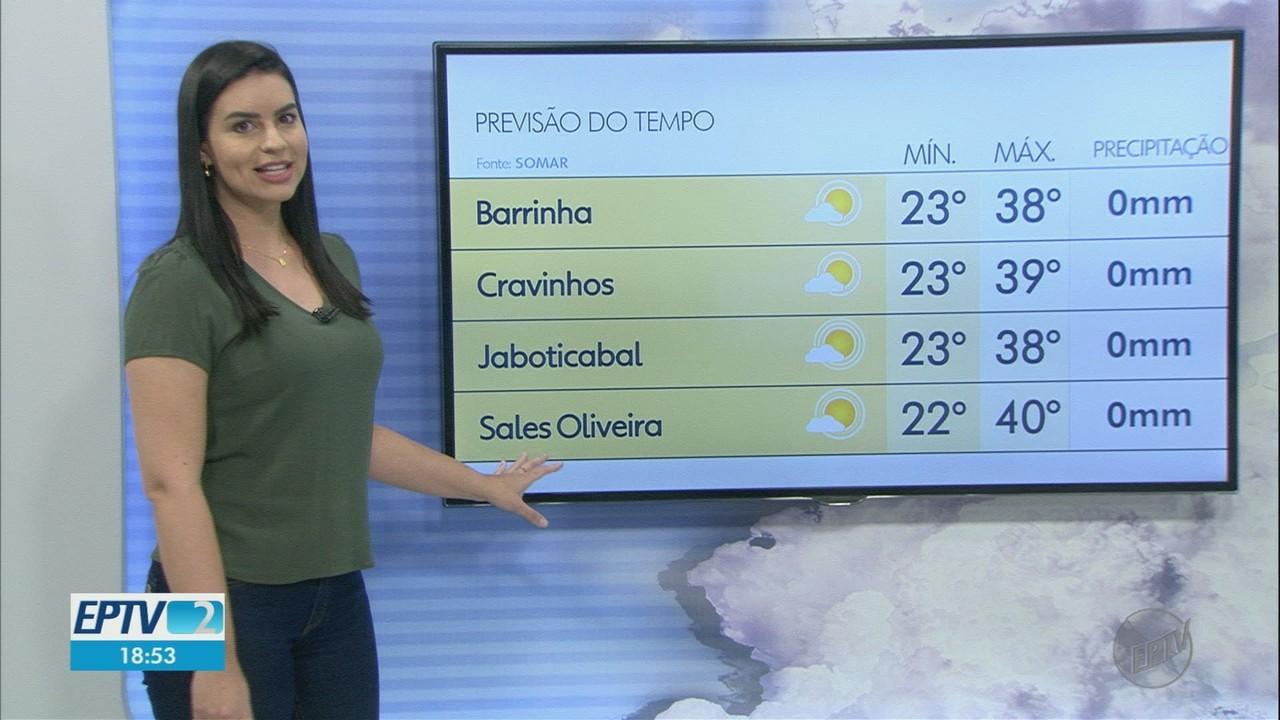 Veja a previsão do tempo para esta quinta-feira (1º) na região de Ribeirão Preto