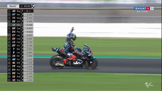 Francesco Bagnaia conquista pole position em etapa da moto 2 no Mundial de motovelocidade