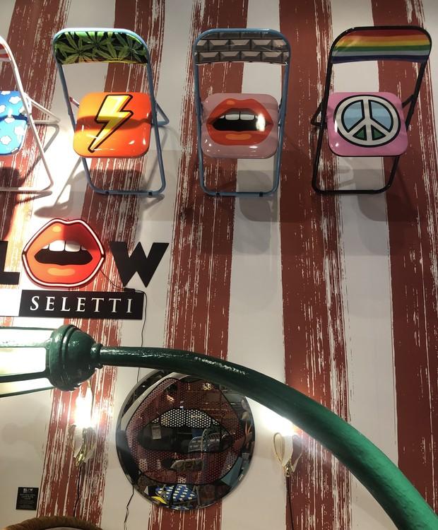 A Seletti sempre surpreende com produtos divertidos e com a forma lúdica de compor o estande (Foto: Thaís Lauton/ Editora Globo)