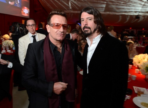 Bono e Dave Grohl (Foto: Getty Images)