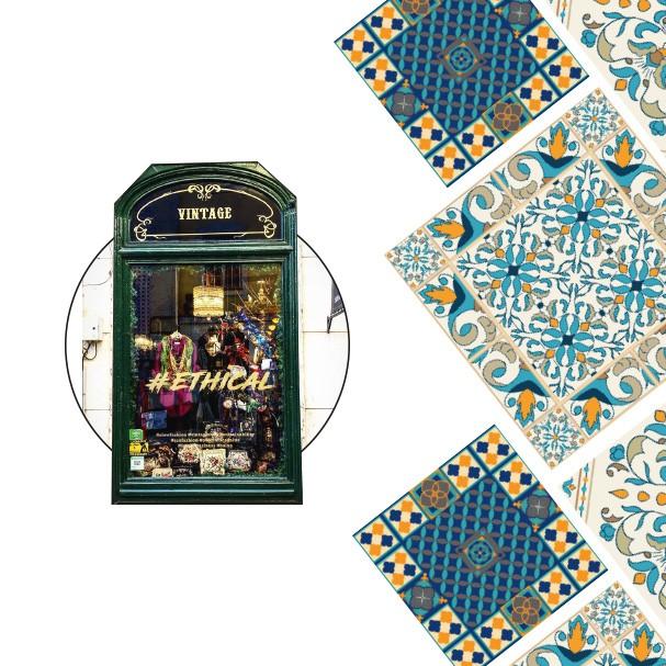 Latas e artigos de papelaria em estilo ladrilho português? Queremos! (Foto: Thinkstock, divulgação e reprodução/Facebook e Instagram)
