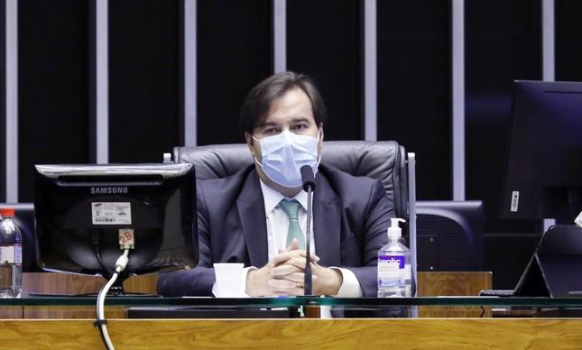 Rodrigo Maia em sessão no Congresso