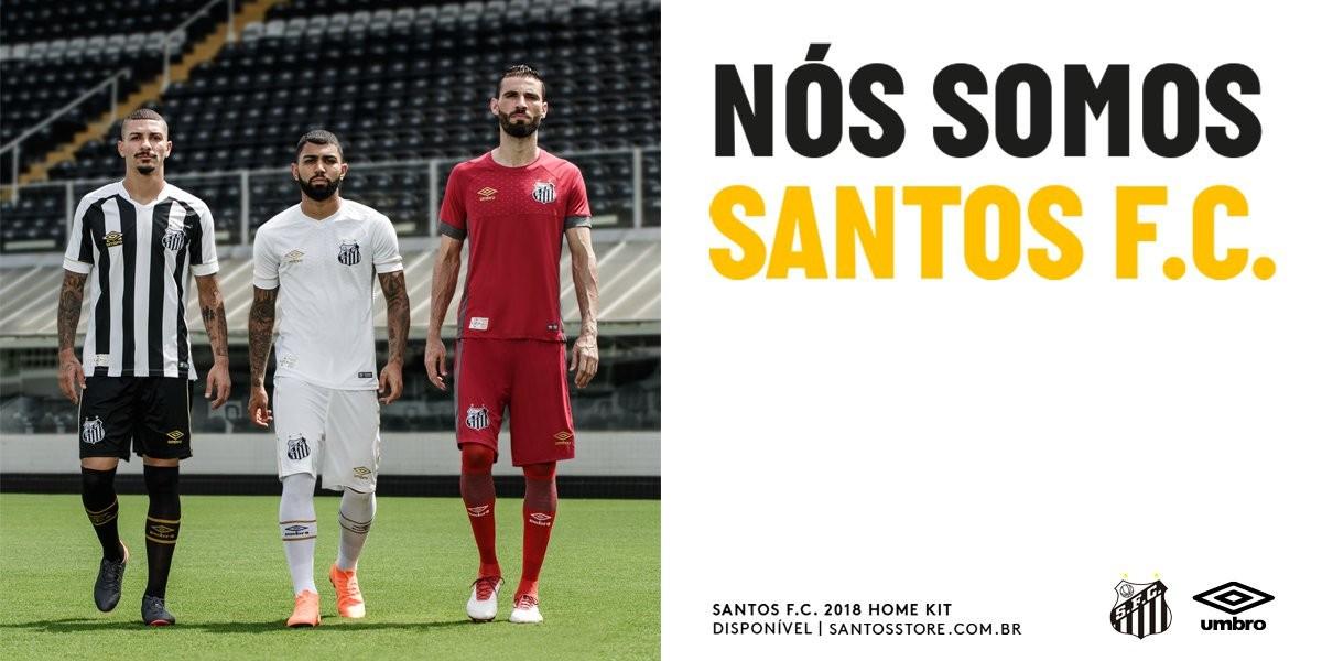 Loja oficial do Santos publica imagem dos novos uniformes no Twitter ... 803d2b447eaf2