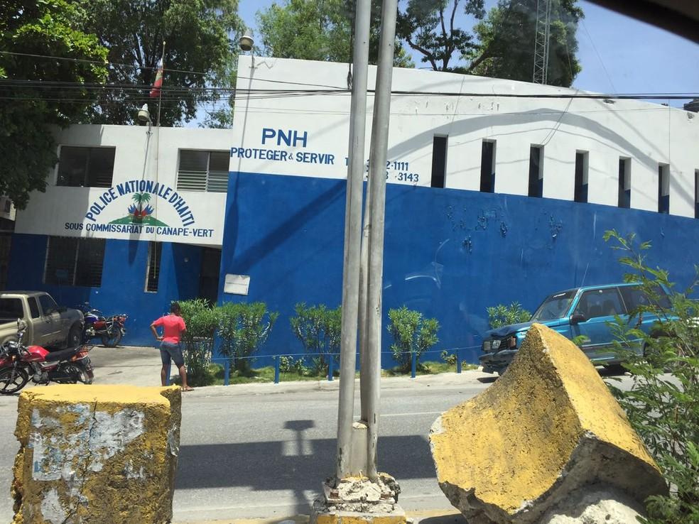 Delegacia da Polícia Nacional Haitiana em Porto Príncipe (Foto: Tahiane Stochero/G1)