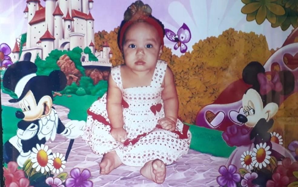 Menina de 3 anos morreu ao ser baleada na cabeça no Grande Recife — Foto: Acervo pessoal