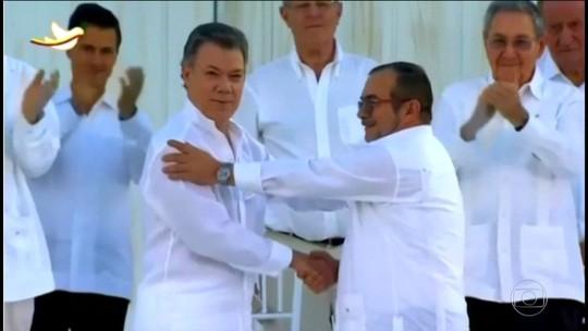 Nobel da Paz vai para o presidente da Colômbia, Juan Manuel Santos