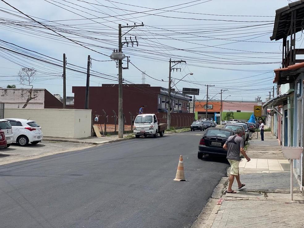 Criança foi atropelada em rua no bairro do Rodeio em Mogi das Cruzes — Foto: Helder Vilela/ TV Diário