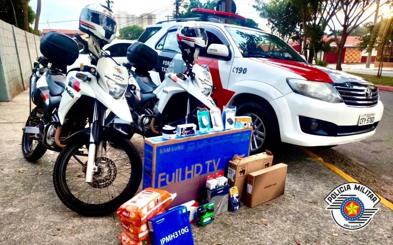 Homem é preso em São José com carro e produtos eletrônicos roubados