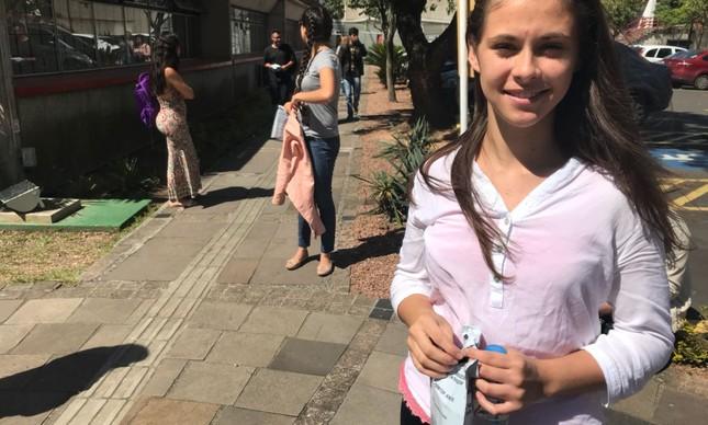 Thainá Conceicao sofreu com a falta de aulas por causa da greve