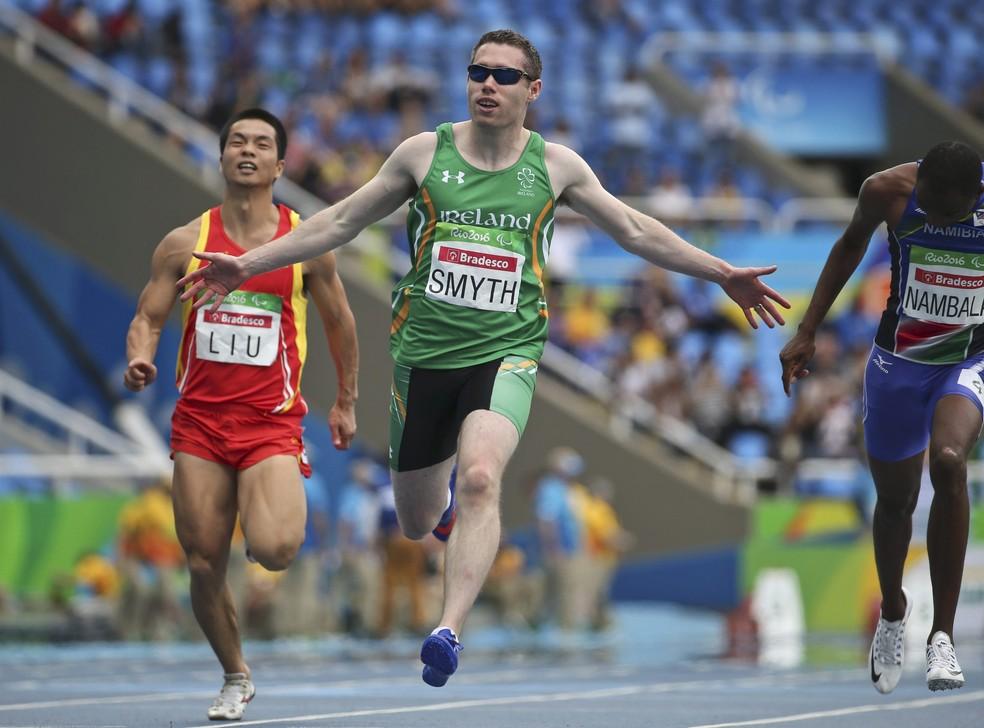 Jason Smyth, medalha de ouro na classe T13 nos Jogos Paralímpicos Rio 2016 — Foto: Reuters