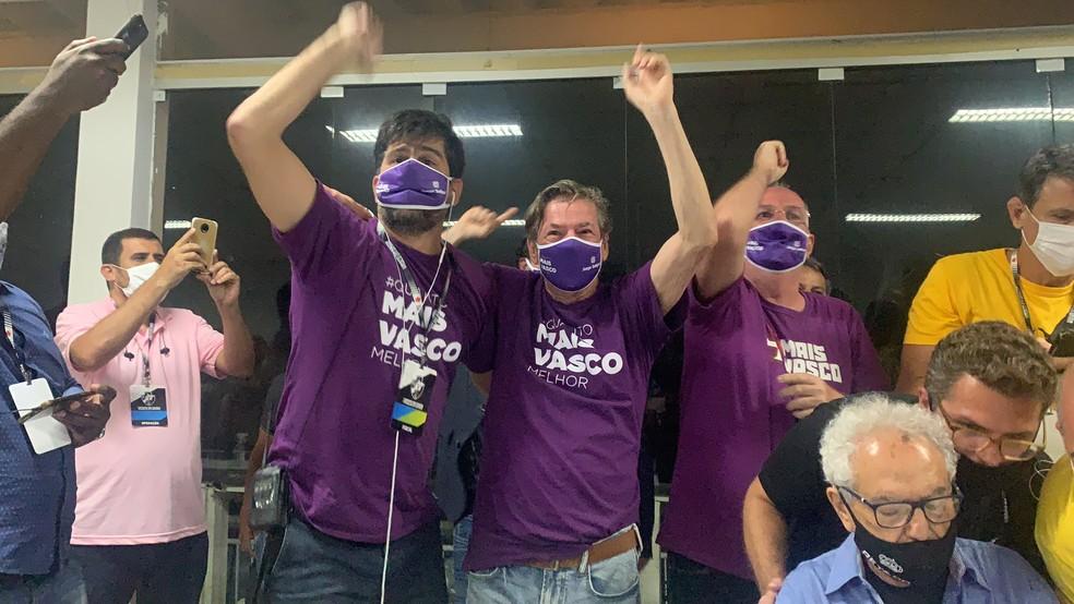Salgado comemora vitória no Vasco — Foto: Divulgação/Mais Vasco