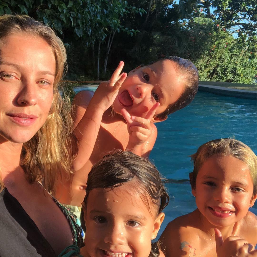 Luana e os filhos (Foto: Reprodução/Instagram)