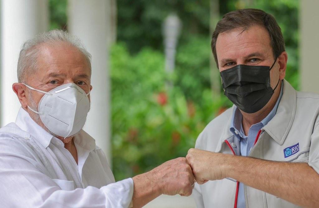 Encontro entre o ex-presidente Lula e o prefeito do Rio, Eduardo Paes