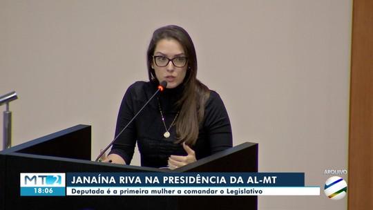 Janaína Riva assume presidência da Assembleia Legislativa